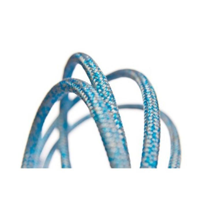 Gleistein Rope MegaTwin 07 Hochleistungsschot Schot grau/blau meliert Trimmleine