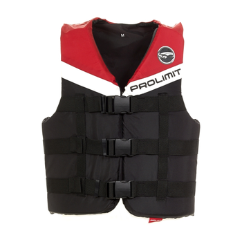 PROLIMIT Vest Nylon 3-Buckle Bk/Rd Black/Red