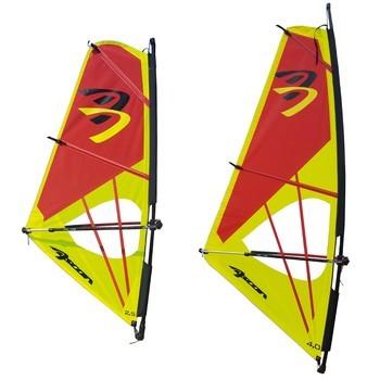 Ascan Dacron Rigg Kinder-Jugend-Damen Windsurfsegel Segel+Mast+Gabel