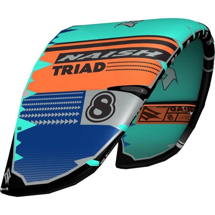 Naish S25 Kite Triad PacificBlue/Orange/DeepBlue