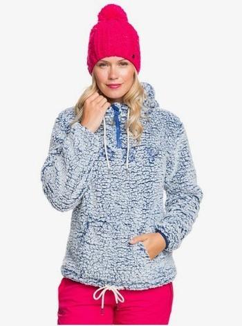 Roxy Pluma Sherpa - Funktions-Kapuzenfleece mit Halbreißverschluss für Frauen