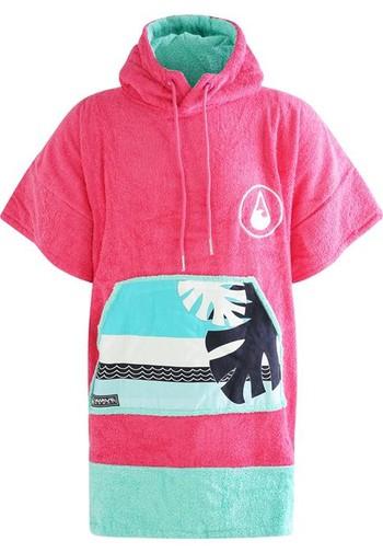 WAVE HAWAII Poncho Pink Wave - Größe S