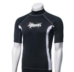 Ascan Shirt Black 1/2 kurzarm UV-Schutz Rash Vest