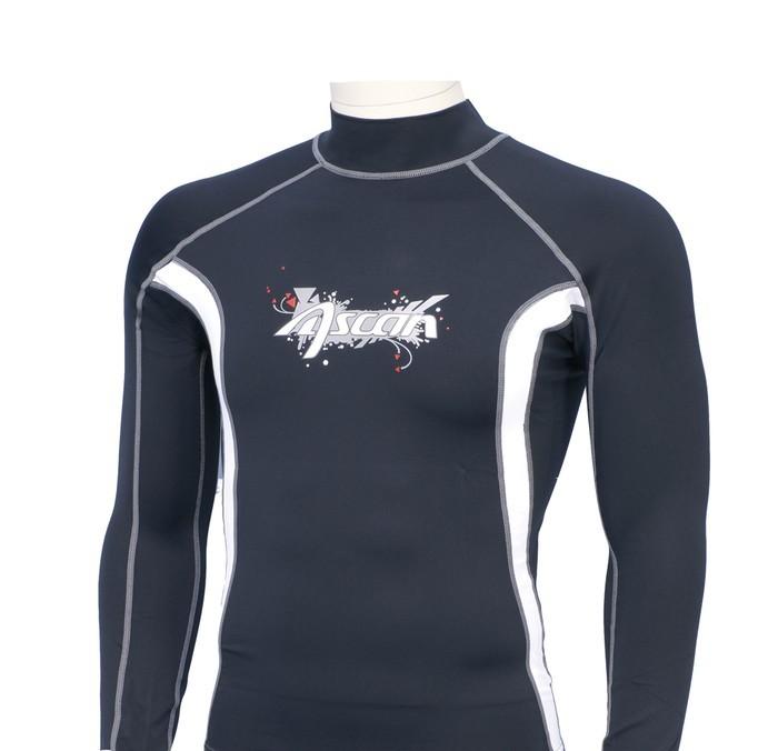 Ascan Shirt Black 1/1 langarm UV-Schutz Rash Vest