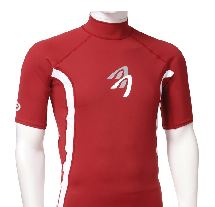 Ascan Shirt Red 1/2 kurzarm UV-Schutz Rash Vest