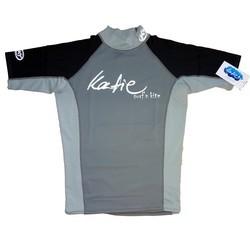 Katie Lycra Rashguard Kurzarm Männer UV-Resistant - black