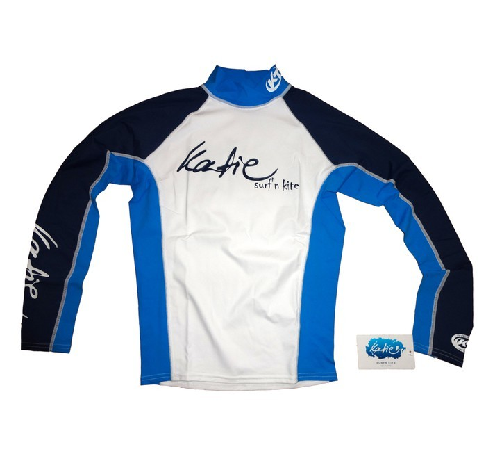 Katie Lycra Rashguard Langarm Männer UV-Resistant - white/blue