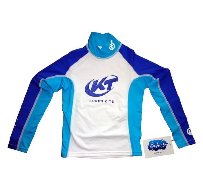 Katie Lycra Rashguard Langarm Kinder UV-Resistant - white/blue