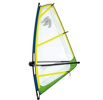 Ascan Pro Rigg Kinder-Jugend-Damen Windsurfsegel komplett Segel+Mast+Gabel Gelb