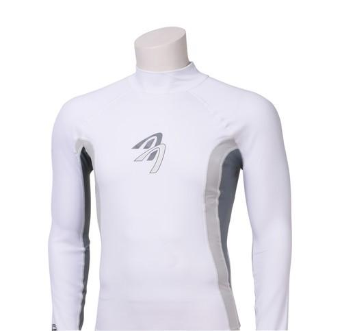 Ascan Shirt White 1/2 kurzarm UV-Schutz Rash Vest Model Logo