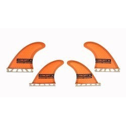 Concept X Kite Surf Fins Waveblade Honeycomp Finne - G5 10cm Orange