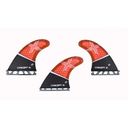 Concept X Kite Surf Fins Waveblade Honeycomp Finne - G5 10cm Carbon
