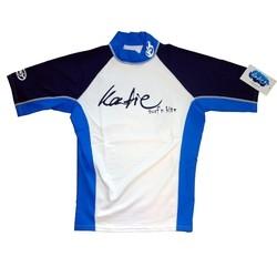 Katie Lycra Rashguard Kurzarm Männer UV-Resistant - white/blue