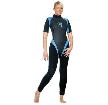 Ascan Blue Kurzarm 3mm Damen Neoprenanzug - Größe: 36