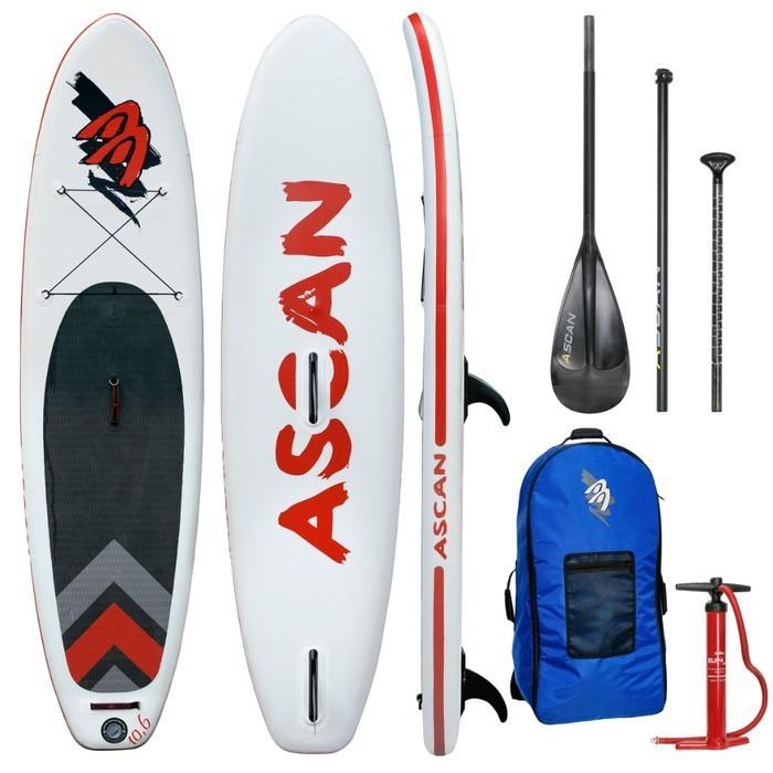 "Ascan iSUP Inflatable Windsurf Board 10,6"" SET"